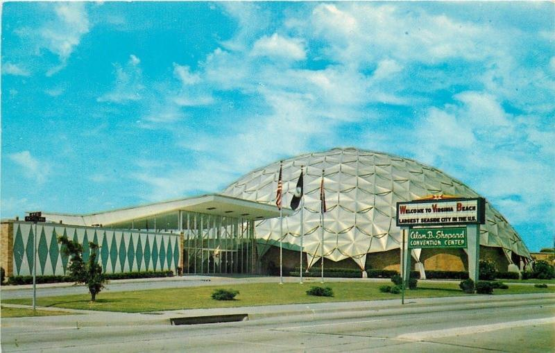 Virginia Beach Va Astronaut Alan B Shepard Convention Cntr Geodesic Dome 1950