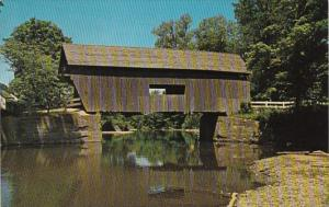 Vermont Warren Covered Bridge Over The Mad River