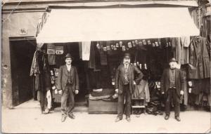 Clothing Merchants Businessmen Clothes Priced KR Sweden ? RPPC Postcard E26