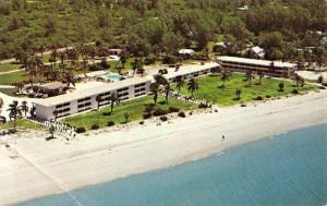 Sanibel Island Florida Reef Resort Motel Birdseye View Vintage Postcard K431244