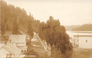 F14/ Gardiner Oregon RPPC Postcard c1910 Birdseye View Homes Store 3