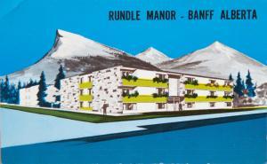 Rundle Manor Banff Alberta AB Apartment Hotel Unused Vintage Postcard E14