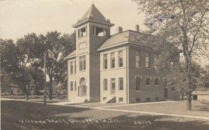 RP : SHEFFIELD , Illinois , 1915 ; Village Hall ; C. R. CHILDS