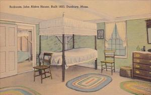 Bedroom John Alden House Built 1953 Duxbury Massachusetts