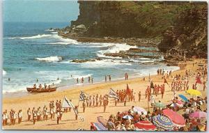 c1950s PAN-AM Airways Advertising Postcard AUSTRALIA - Avalon Beach, Sydney