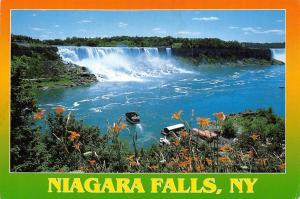 Canada Niagara Falls, The American Falls Boats Panorama