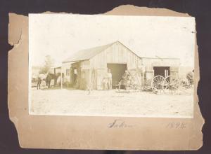 REAL PHOTO MOUNTED PHOTOGRAPH WARRENSBURG MISSOURI BLACKSMITH SHOP 1898