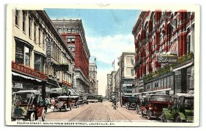 Fourth Street, South from Green Street, Louisville, KY Postcard *6W2