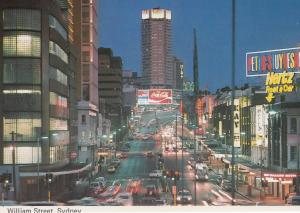 William Street Sydney Australia 1970s Postcard