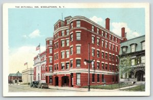 Middletown New York~Mitchell Inn~Victorian House~Mansard Roof~Iron Fence~1920s