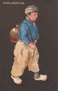 TUCK #6710; Exploration Dutch boy holding a bag, PU-1906