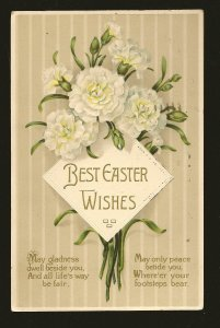 Postmarked 1911 Toronto Ont Best Easter Wishes Embossed Color Postcard