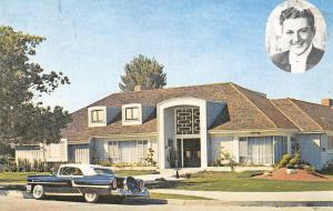 Lee Walter Liberace Home and Car Postcard