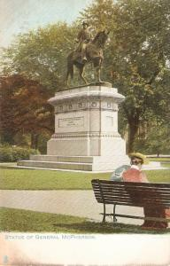 Statue of General McPerson, on horse  Tuck Statues an Monumnt ser. PC # 2343
