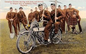 Divided Back Era (1907 - 1915) Salisbury Plain England Canadian Cyclist Leavi...