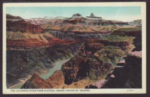Colorado River From Plateau,Grand Canyon AZ Postcard