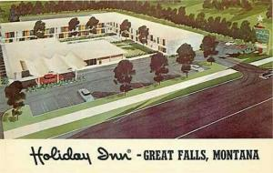 MT, Great Falls, Montana, Holiday Inn, Curteich Color 3DK-525