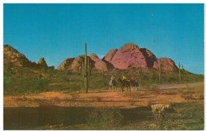 Postcard - Horseback Riding On The Desert, Arizona
