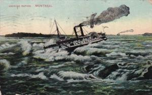 Canada Montreal The Lachine Rapids 1913