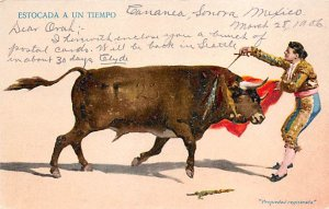 Estocada a un Tiempo Tarjeta Postal Bullfighting Unused