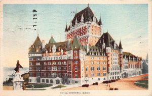 Chateau Frontenac, Quebec, Canada,  Early Postcard, Used in 1929