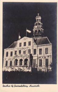 RP, Stadhuis Bij Feestverlichting, Maastricht (Limburg), Netherlands, 1920-1940s