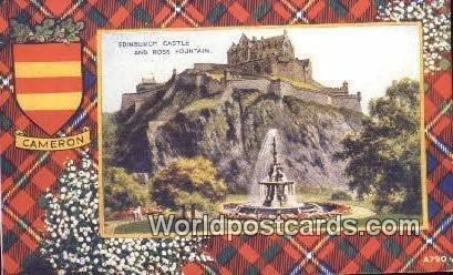 Cameron, Ross Fountain Edinburgh Castle Scotland, Escocia Writing on back