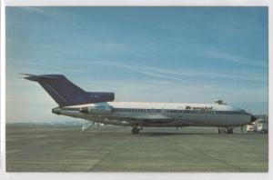 Transjet Boeing 727-30C Tarmac Blue White Livery Airplane Aviation Postcard