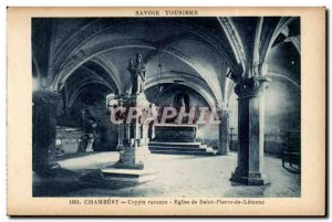 Chambery Postcard Old Crypt Romanesque church of the St. Peter Lemenc