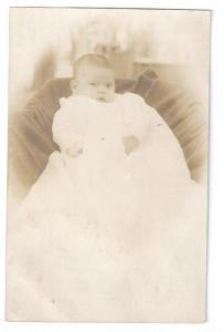RPPC Baby Christening Gown Infant Real Photo Salem NJ
