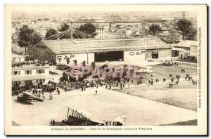 Old Postcard Jet Aviation Airport Bourget basis of the French Airline