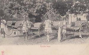 Riksha Boys South Africa African Antique 1904 Old Postcard