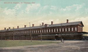 ST. THOMAS , Ontario , Canada, 1900-10s ; M.C. Railroad Station