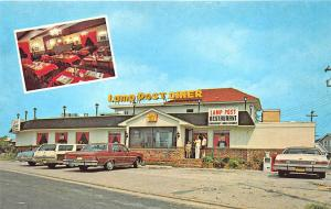 North Wildwood NJ Lamp Post Diner Old Cars Postcard