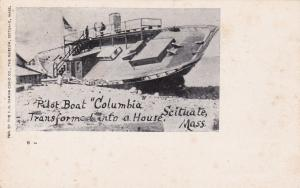SCITUATE , MA , 00-10s; Pilot Boat Columbia wrecked Nov. 27, 1898, version 2