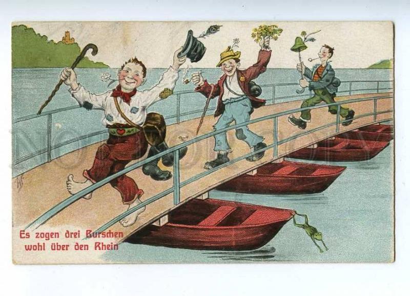 187369 Beggars dance Bridge Rhine FROG by WS Vintage COMIC PC
