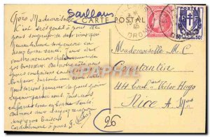 Old Postcard Saillans L & # 39Eglise