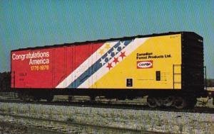 Train Canadian Forest Products Box Car Congratulations America