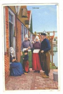 Family Dressed With Typical Costume, Volendam (North Holland), Netherlands, 1...