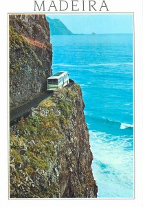 Portugal Postcard Madeira S Vicente Porto do Moniz narrow mountain road bus