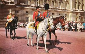 H M The Queen and H R M Prince Philip On Horseback