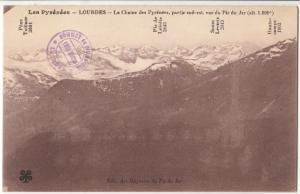 France, Les Pyrenees, LOURDES, La Chaine des Pyrenees, unused Postcard CPA