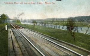 GA - Macon. Ocmulgee River and Spring Street Bridge