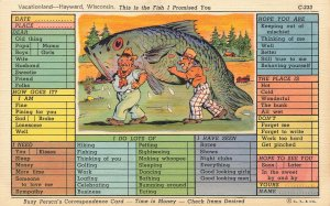 C-233 Ray Walters Haywood WI This is the Fish Curt Teich Postcard