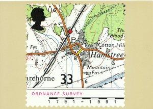 Maps Postcard - Royal Mail Ordance Survey - Ref TZ5738