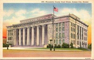 Kansas Kansas City Wyandotte County Court House Curteich