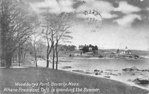 Beverly Massachusetts Woodburys Point Waterfront Antique Postcard K56286