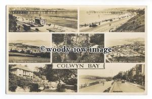 tq1326 - Multiview x 7, of Various Early Views around Colwyn Bay - postcard