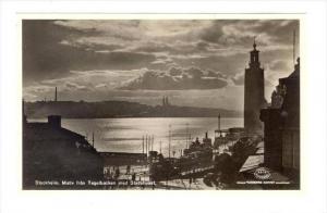 RP, Motiv Fran Tegelbacken Med Stadshuset, Stockholm, Sweden, 1920-1940s