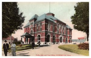 Massachusetts Stoughton , Town Hall and Post office